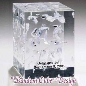 """Wedding Lucite """"Random Cube"""" Design"""