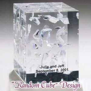 Lucite Wedding Glass Random Cube