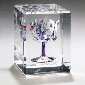 Wedding Lucite Rectangular Cube