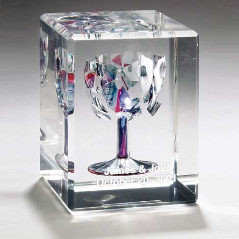 Rectangular wedding glass lucite cube - Breakable wedding glass ...