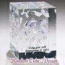 "Wedding Lucite ""Random Cube"" Design"