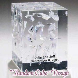 Lucite Wedding Glass Random Cube