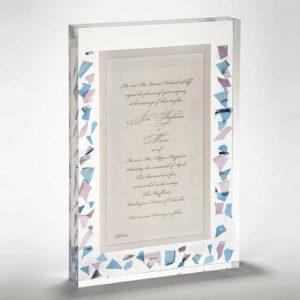 Wedding Lucite Invitation