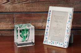 Lucite Centerpiece or Mantle Gift
