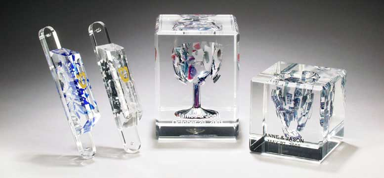 Lucite Wedding Glass Gifts