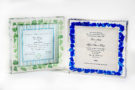 lucite wedding glass invitation