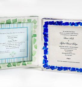 lucite wedding glass invitation