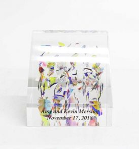 slanted-lucite-wedding-cube-front